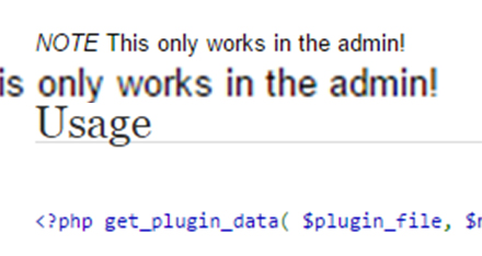 get_plugin_data() only in admin ? Why ?